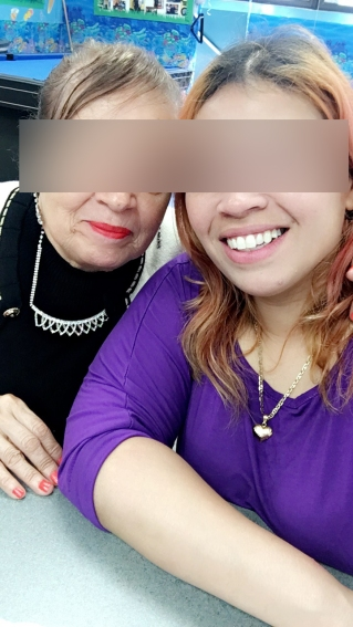 me and mom blurred